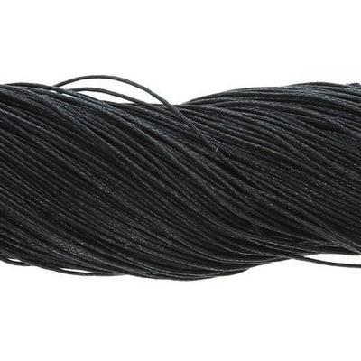 шнурок Хлопок  Черный 1мм ~80m ???