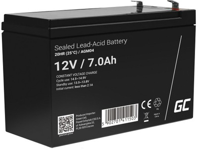 Akumulator AGM 12V 7Ah bezobsługowy do UPS alarm