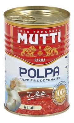 [ŚD]Pomidory krojone z czosnkiem MUTTI- Pulpa 400g