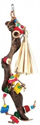 Trixie Zabawka z naturalnego drewna dla papug 56cm