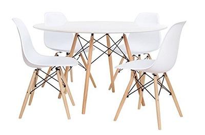 комплект стол ETT + 4x Стул TOLV DSW цвета