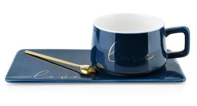чашка с тарелкой Чайная ложка гранат блюдце