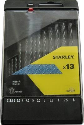 STANLEY KOVU VRTÁKY 13szt 2-8 mm STA56020