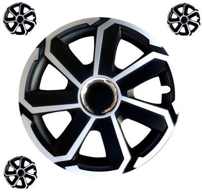 Kołpaki czarno srebrne 15 VW OPEL FORD AUDI SEAT