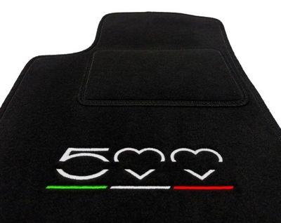 ALFOMBRILLAS DE FELPA FIAT 500 (2007 - ...) + HAFT