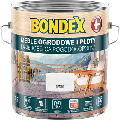 BONDEX Lakierobejca Pogodoodporna biały cedr 2,5L