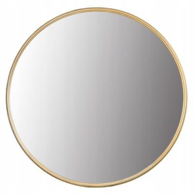 Okrúhle zrkadlo v medenom / zlatom ráme 40 cm