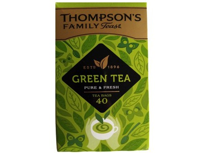 THOMPSONS PURE GREEN TEA 40 herbata zielona IRL