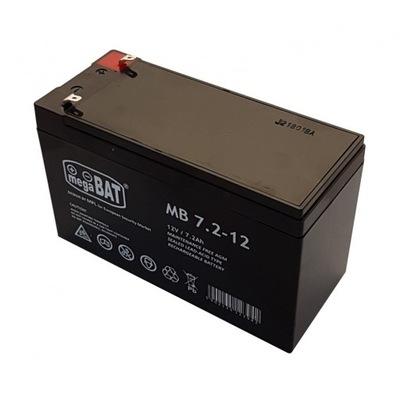 Akumulator bezobsługowy AGM 12V 7Ah BARDZO MOCNY