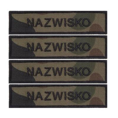 IMIENNIK NASZYWKA nazwisko na mundur US-22 x 4 szt