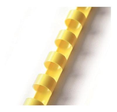 Grzbiety do bindowania plastikowe żółte 6 mm 100sz