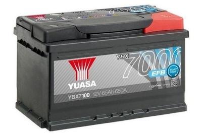 YUASA YBX7100 12V 65AH 650A EFB START-STOP, фото