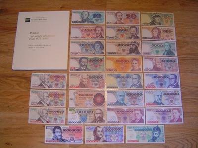 ALBUM POLSKIE BANKNOTY OBIEGOWE 1975-96 +27 SZTUKI