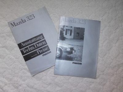 ОРИГИНАЛНЫЕ PROSPEKT MAZDA 323 1985R.