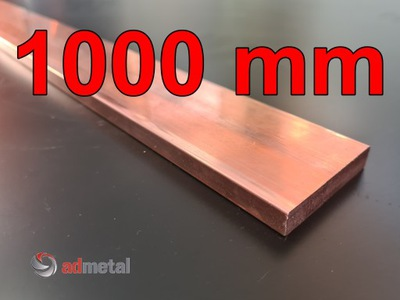 Miedź, płaskownik miedziany 100x10 mm M1Ez4