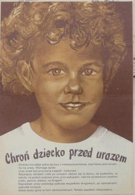 ЗАЩИТИТЕ РЕБЕНКА ОТ ТРАВМЫ листовка propagand 1986