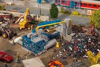 Sortownia śmieci, niszczarka odpadów, skala H0,
