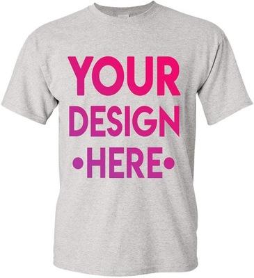 T-Shirt Koszulka z własnym nadrukiem DTG L