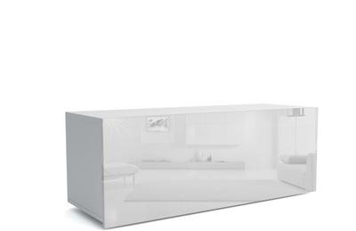 Szafka półka wisząca barek biały połysk SOLID