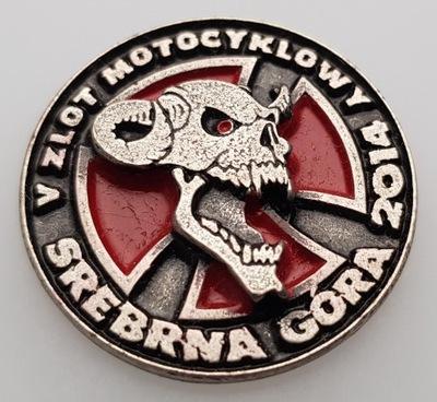 ZNACZEK, ODZNAKA, PLACA ZLOTOWA, MOTOCICLETA -082