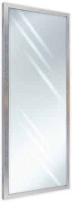 Lustro w ramie 150x40 wąskie srebrny połysk