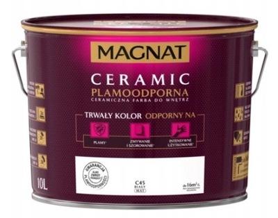 КРАСКА Магнат CERAMIC- Керамическая , белая C45, 10л