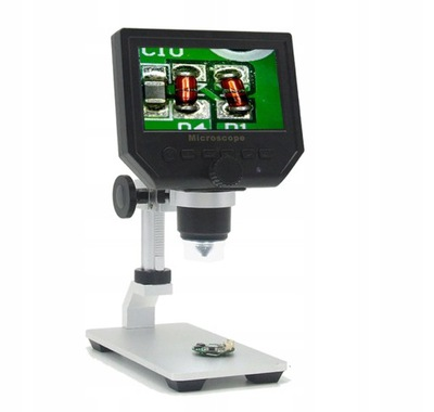 Mikroskop cyfrowy 600x + LCD + 8LED Statyw BTE-553