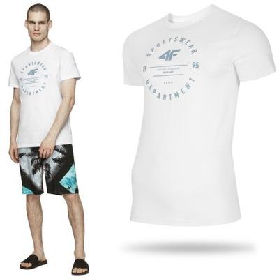 Koszulka męska 4F sportowa t-shirt bawełna plażowa