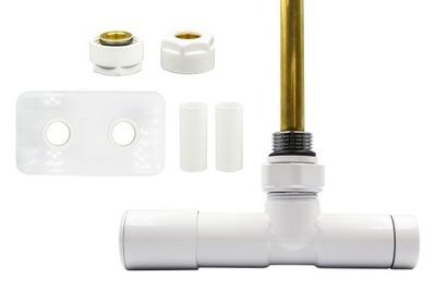 Regulačný ventil Unico 50 mm biely + Cu konektory + rozety vľavo