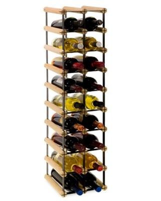 Stojak na wino RW-8 2x9 regał 18 butelek do wina