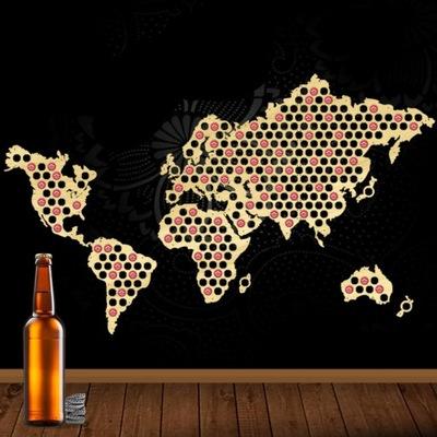 Карта Мира на Колпачки пиво Piwna Коллекция 200x100