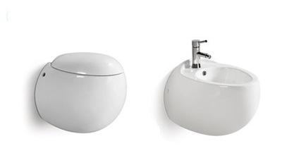 WC misa + bidet, séria MONA + bezrámové sedadlo ITALY