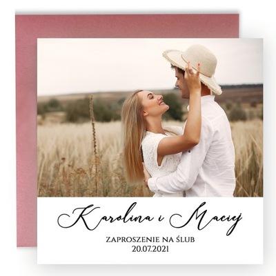 Zaproszenia Ślubne Na Ślub Ze Zdjęciem Foto Kalka