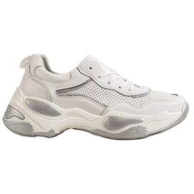 Buty sportowe damskie Skórzane Sneakersy r.38