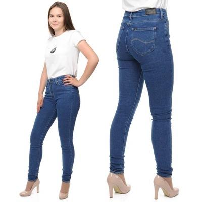 LEE SCARLETT HIGH spodnie damskie rurki W31 L31