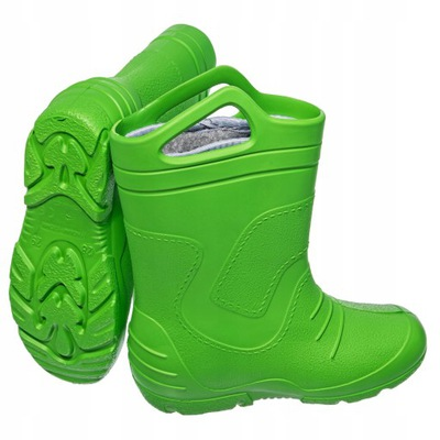 Lekkie Kalosze dziecięce piankowe 51051 zielone 32