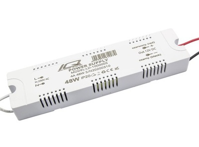 АДАПТЕР МЕБЕЛЬНЫЙ мини PLA 12V 4A 48W IP20 лент LED