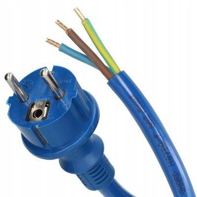 Przewód przyłączeniowy z wtyczką 3x1,5 H07BQ-F 3m