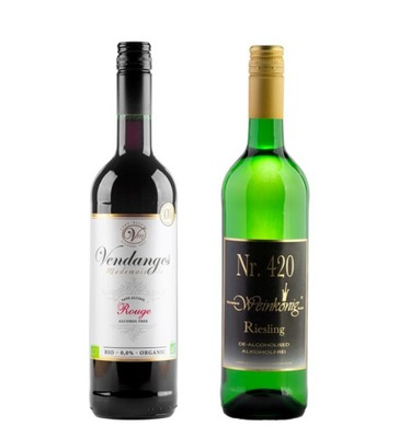 ZESTAW 2x WINO 0% RIESLING VENDANGES ROUGE