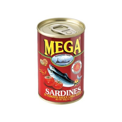 Сардины в томатном соусе с чили 425g мега