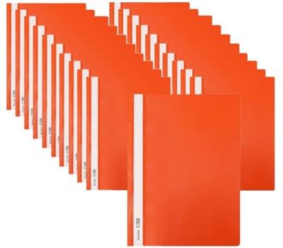 Skoroszyt A4 PCV Twardy BIURFOL 20szt pomarańczowy