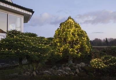 Szwedzkie LAMPKI drucik 200 LED DEW DROP 20mb