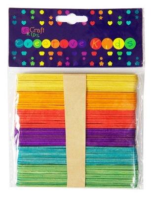 палочки ТВОРЧЕСКИЙ цветные 50 штук . DALPRINT