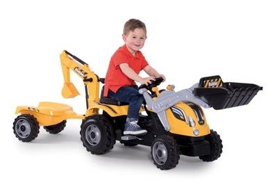SMOBY Traktor MAX Pedále VEDRO-BAGER prípojného vozidla