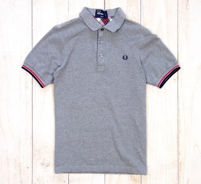 Polo FRED PERRY T-shirt Koszulka Szara Logo XS / S