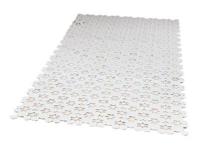 Bieżnik haftowany na ławę 60x120 szary nowoczesny