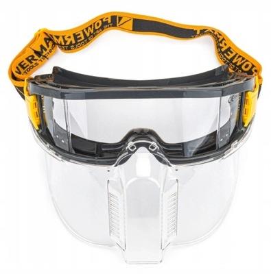 Gogle ochronne przeciwodpryskowe okulary z maską