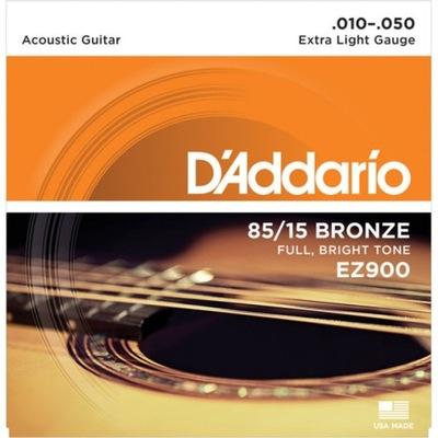 Struny D'Addario EZ900 do gitary akustycznej 10-50