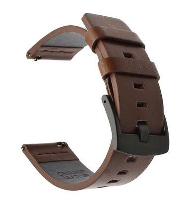 Pasek do zegarka skórzany 22mm brązowy+ teleskopy