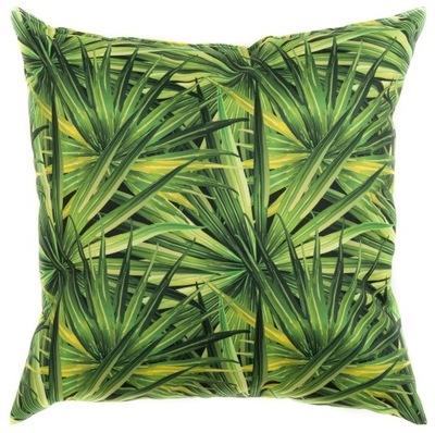 Poduszka dekoracyjna duża wzory 45x45 cm zielona